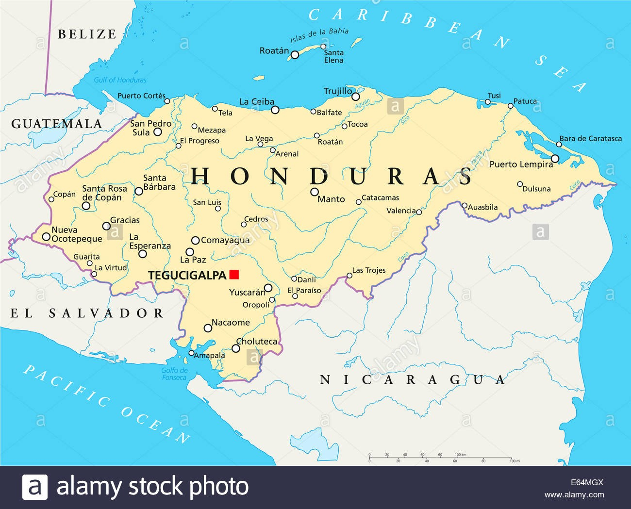 Map Of Honduras With Capital Printable Maps South America With - Printable Map Of Honduras