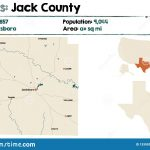 Map Of Jack County In Texas Stock Vector   Illustration Of Education   Jack County Texas Map
