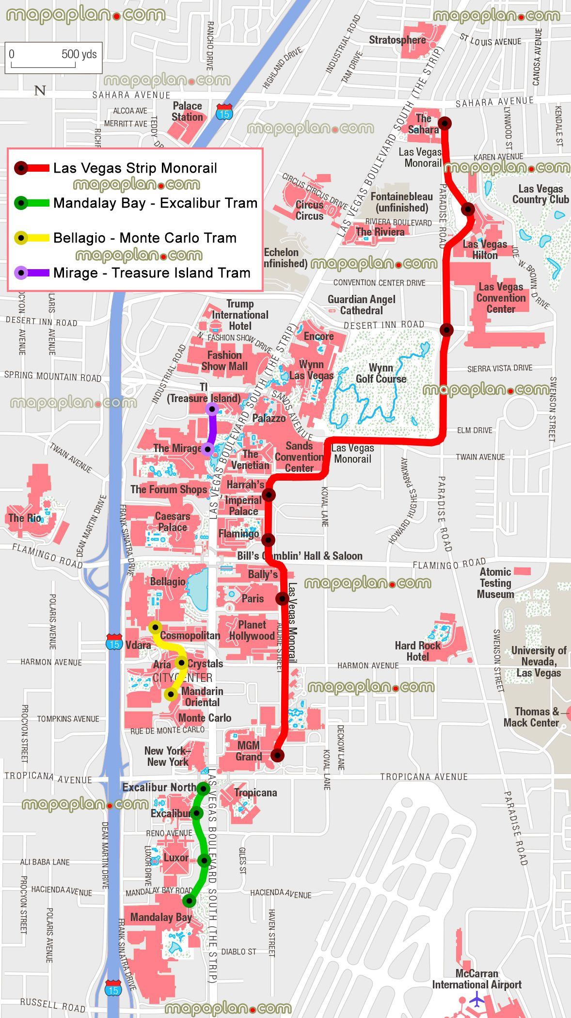 Map Of Las Vegas And California Best Of Monorail Stations Tram Stops - Map Of Las Vegas And California