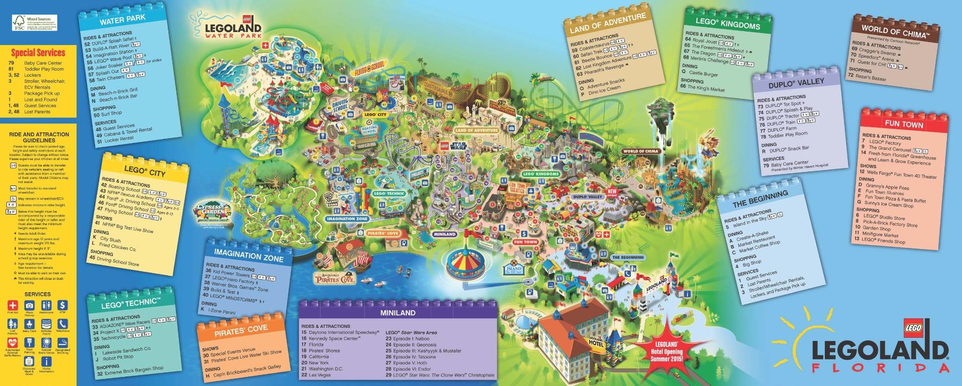 Map Of Legoland California - Klipy - Legoland Florida Map