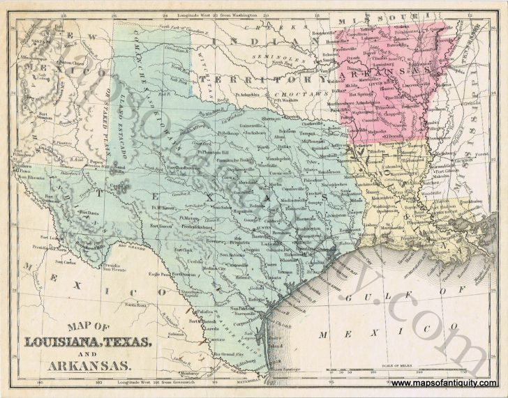 Map Of Texas And Arkansas