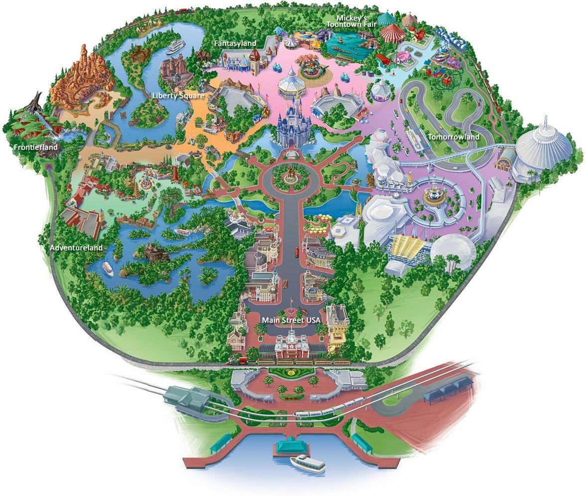 Map Of Magic Kingdom At Disney World   Disney Vacation   Pinterest - Disney Orlando Florida Map