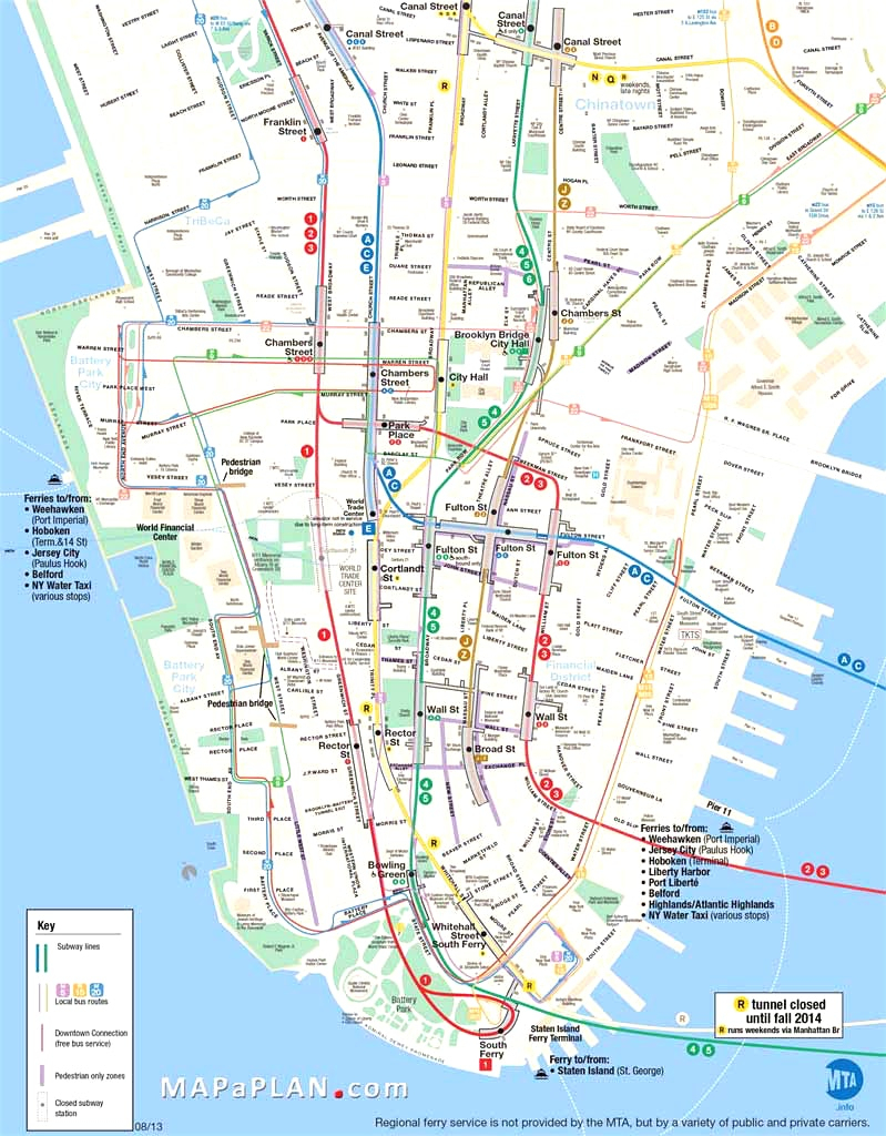 Map Of Manhattan Nyc And Travel Information   Download Free Map Of - Printable Walking Map Of Midtown Manhattan