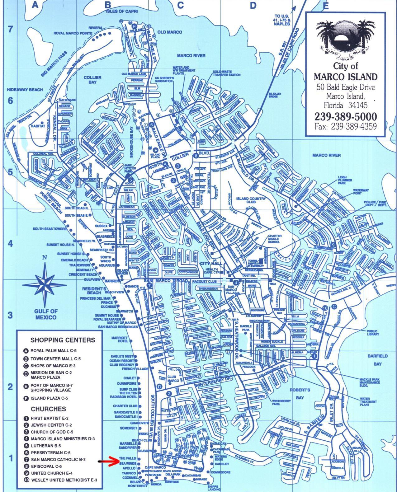 Map Of Marco Island Florida | Compressportnederland - Marco Island Florida Map