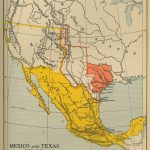 Map Of Mexico And Texas 1845 1848   Texas Map 1800