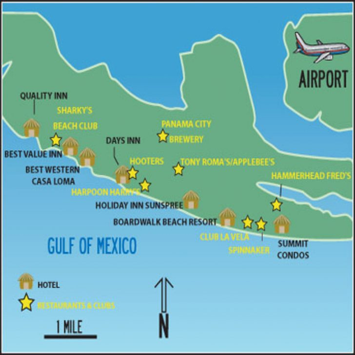 Map Of Panama City Beach Florida