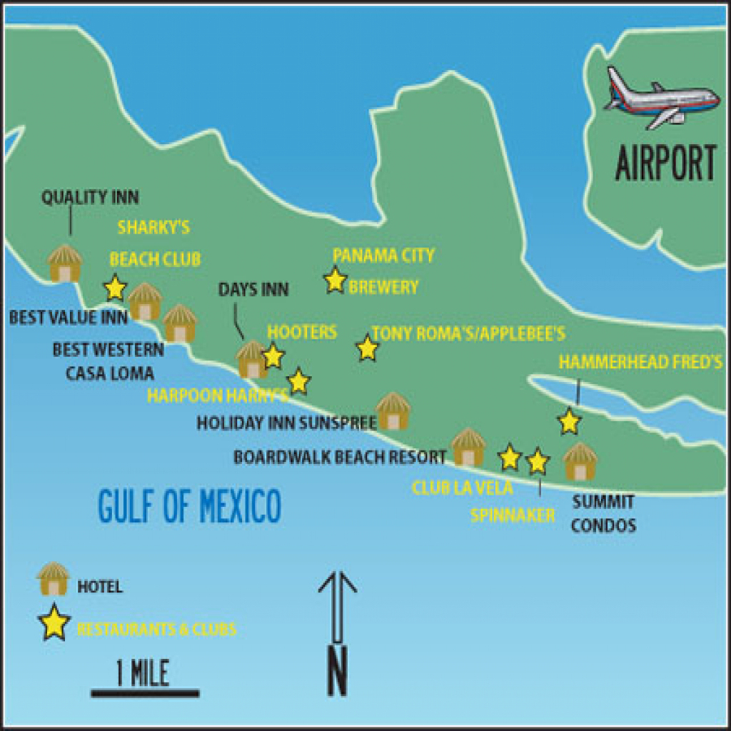 Map Of Mexico City Beach Florida - Link-Italia - Mexico Beach Florida Map