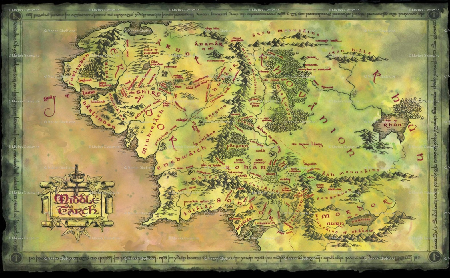 Map Of Middle Earth From Lord The Rings For Large Noavg Me At - Printable Map Of Middle Earth