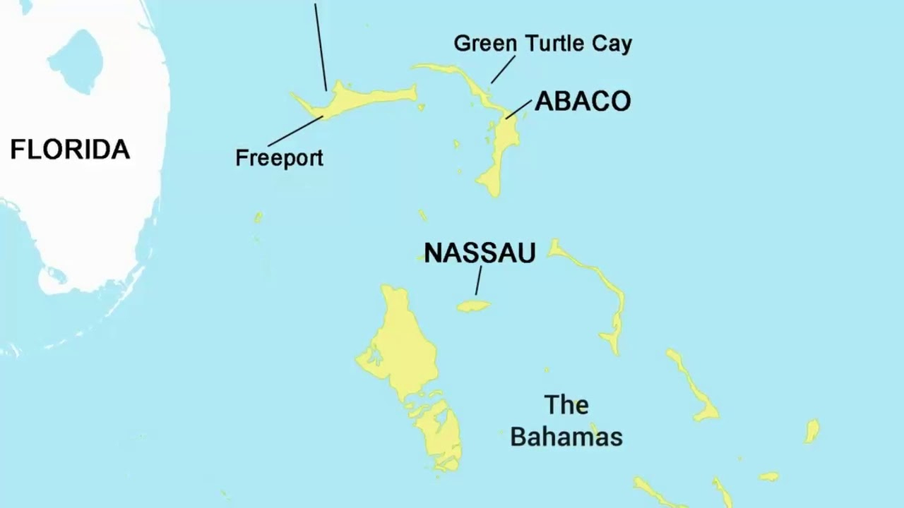 Map Of Nassau, Bahamas - Pros & Cons Of Nassau - Youtube - Map Of Florida And Bahamas
