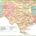 Map Of New Mexico, Oklahoma And Texas   Map Of Texas Including Cities
