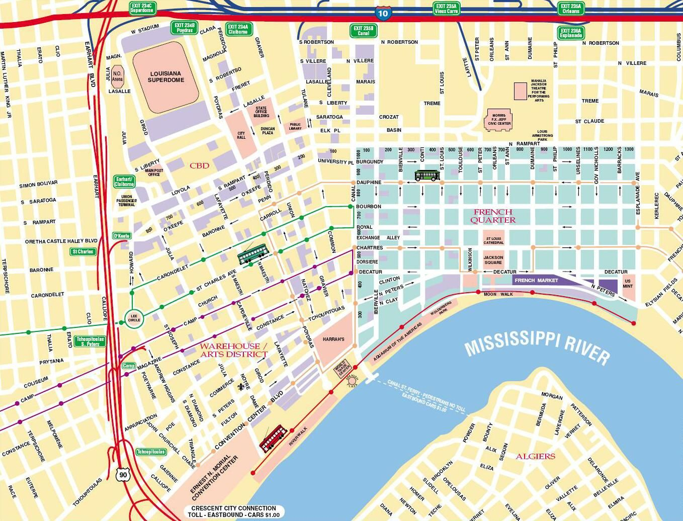Map Of New Orleans | New Orleans Tourist Map See Map Details From - Printable Walking Map Of New Orleans