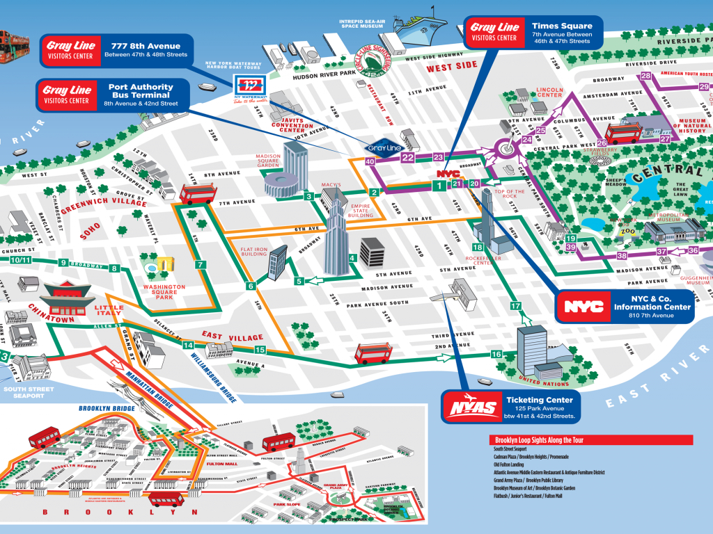 Map Of New York With Attractions New York City Map For Tourists New - Printable Map Of Nyc Tourist Attractions