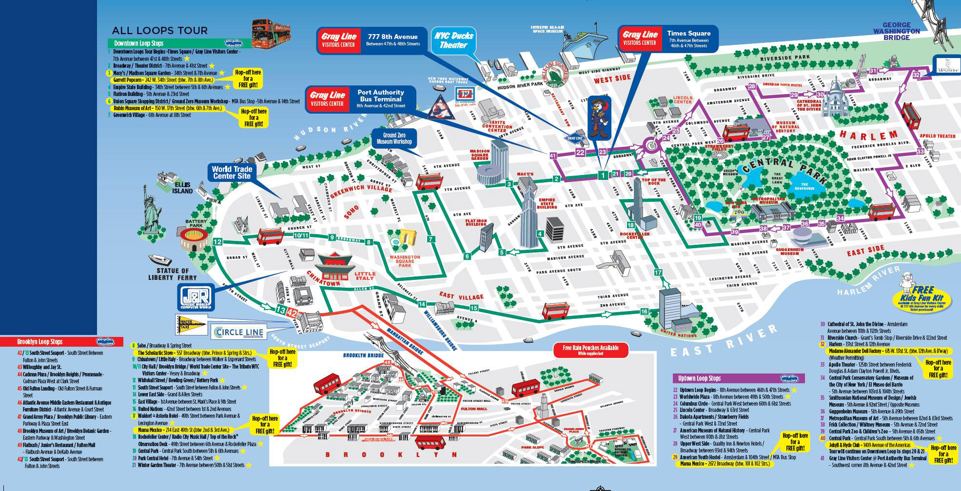 Map Of New York With Attractions New York City Tourist Attractions - Free Printable Map Of Manhattan