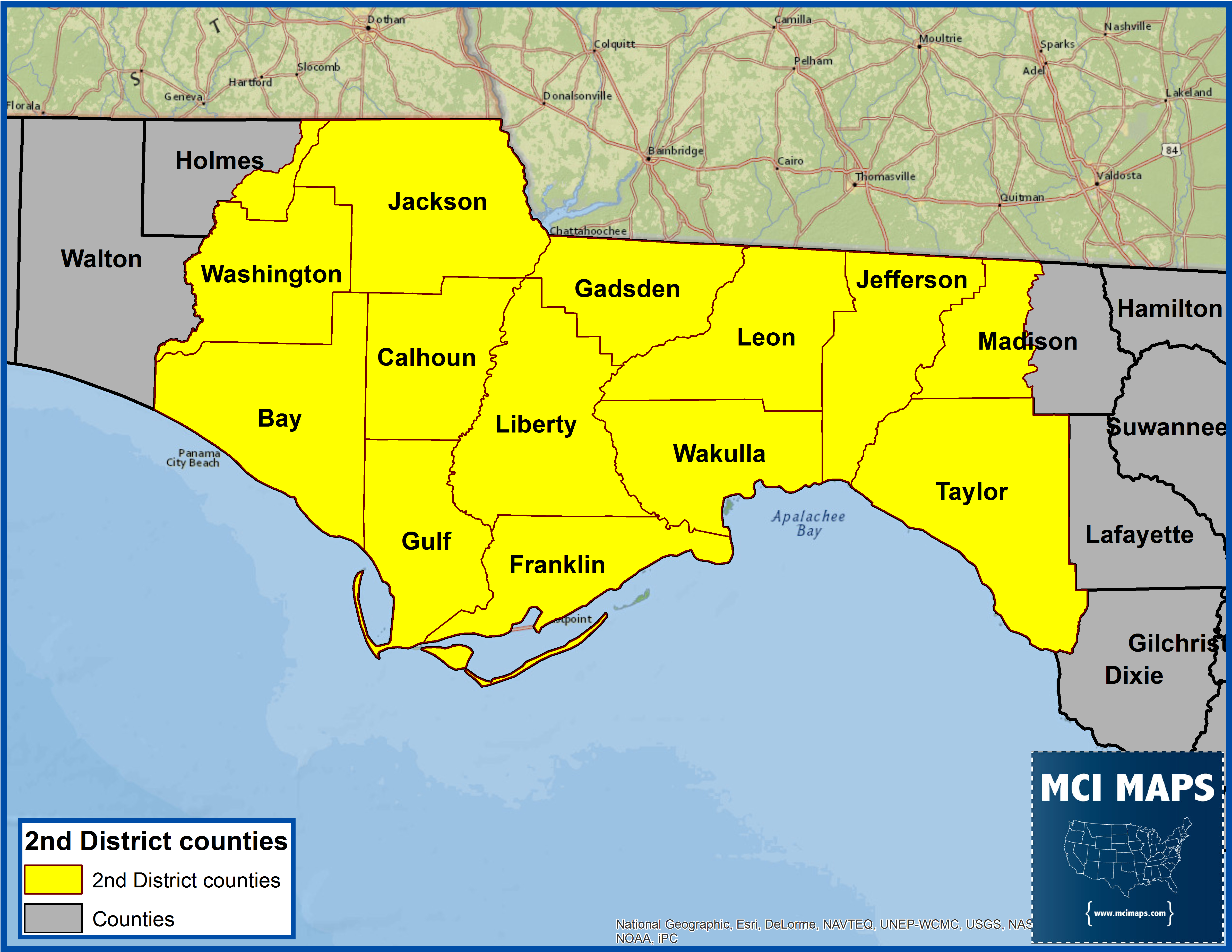 Map Of North Florida Counties And Travel Information   Download Free - Florida North Map