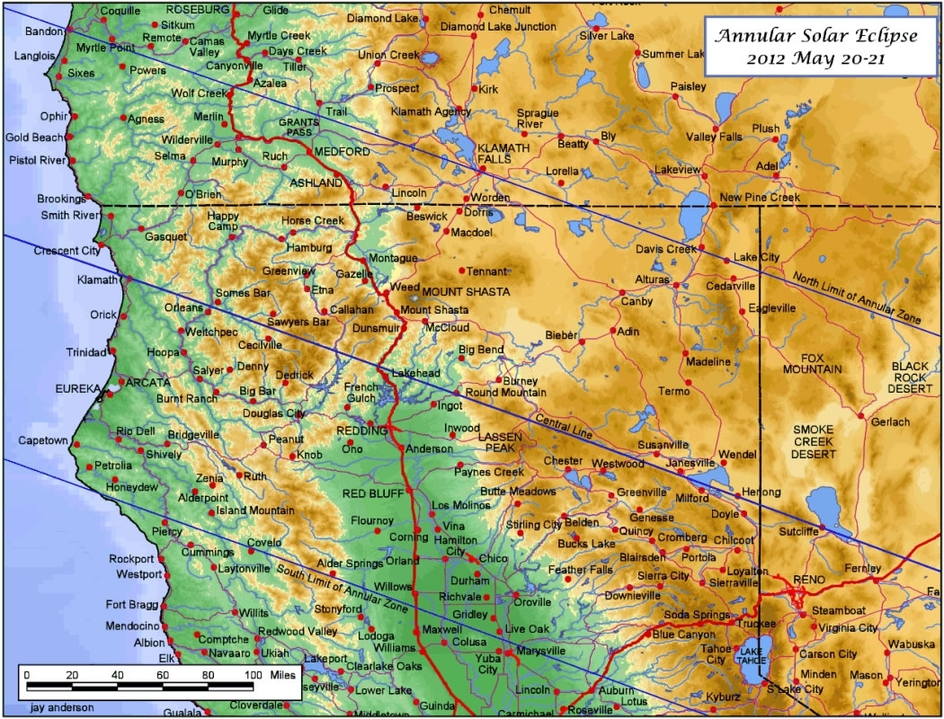 Map Of Northern California And Oregon Border – Map Of Usa District - Map Of Northern California And Oregon