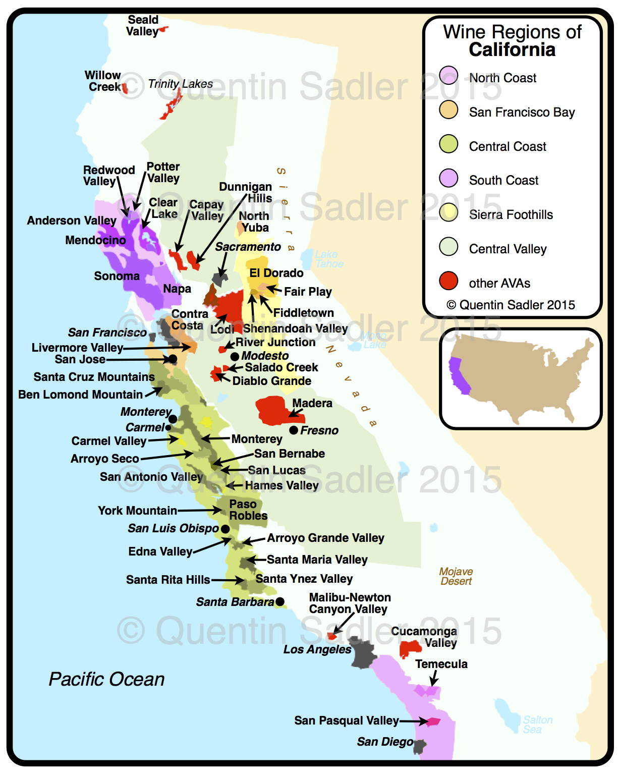 Map Of Northern California Wineries - Klipy - Map Of Northern California Wineries