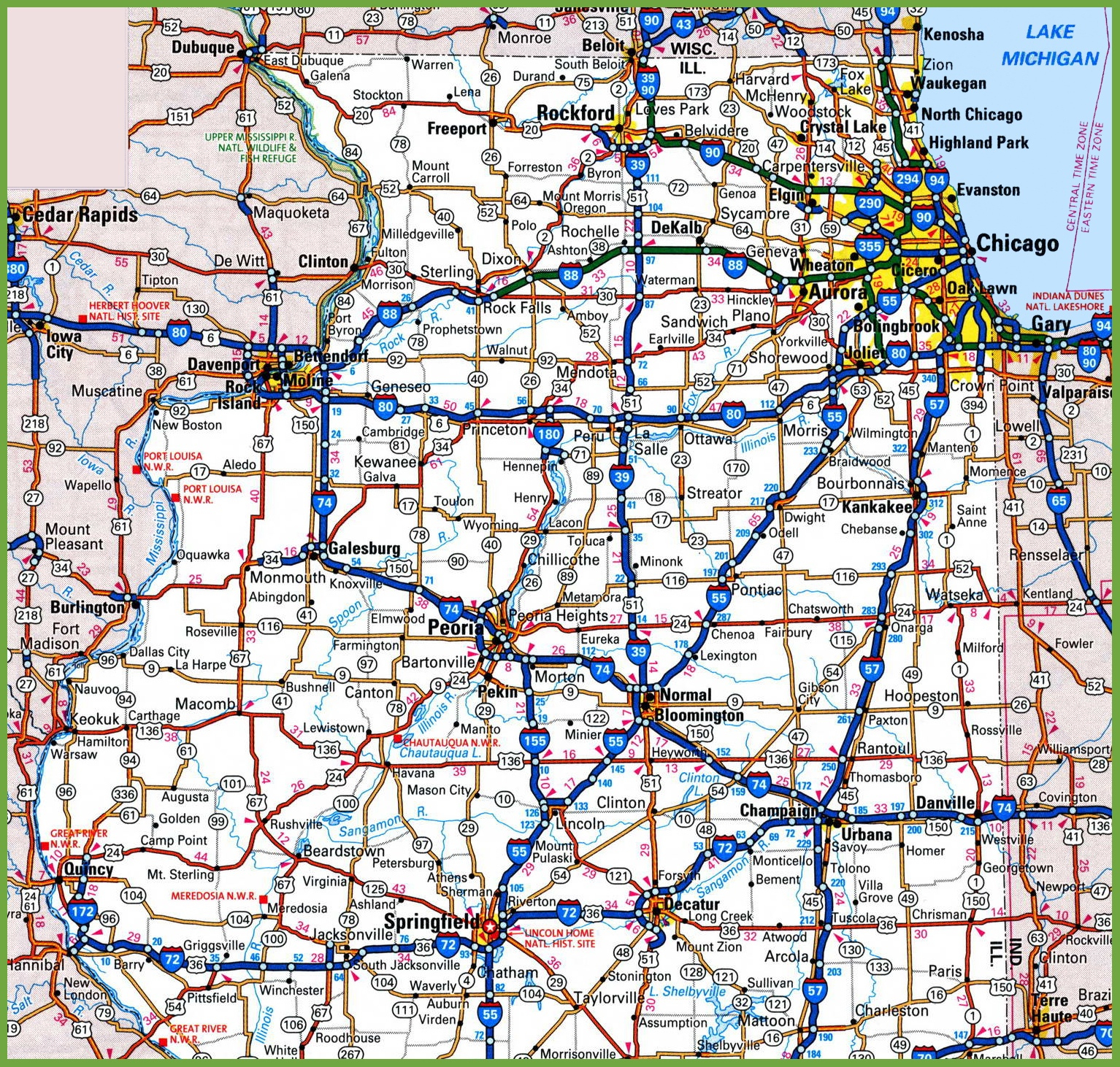 Map Of Northern Illinois - Printable Map Of Illinois