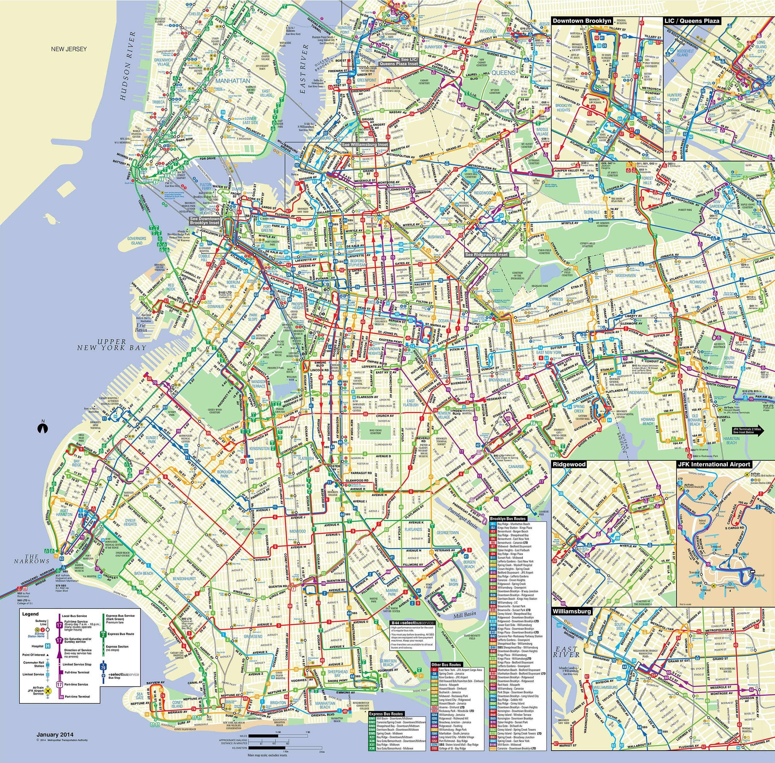 Map Of Nyc Bus: Stations & Lines - New York Downtown Map Printable