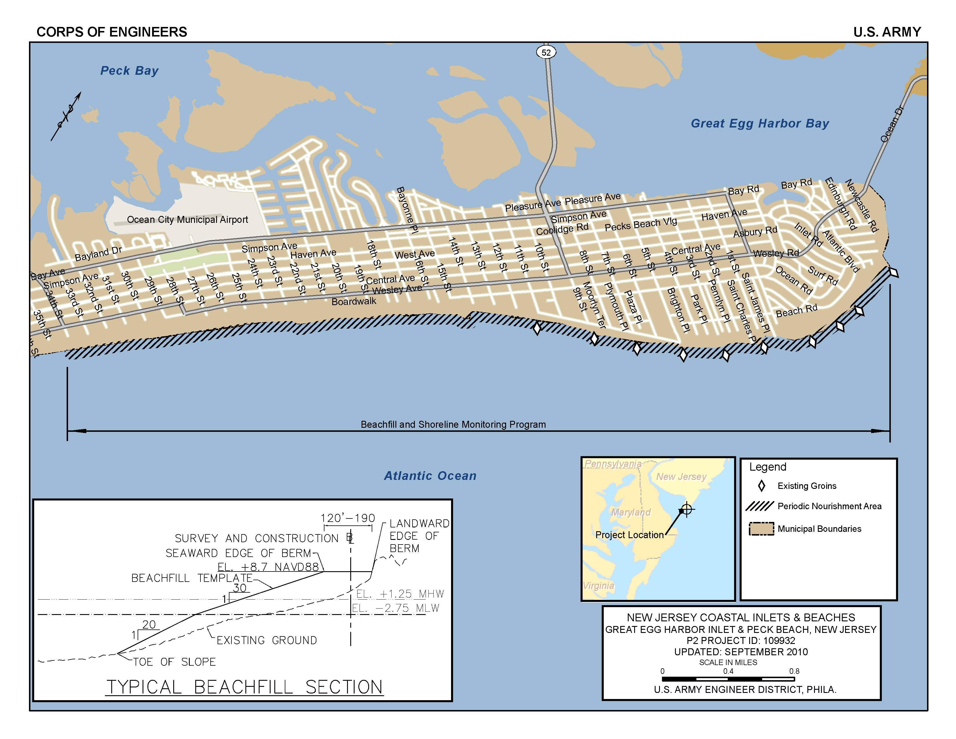 Map Of Ocean City Md Longitude Latitude Google Maps - Printable Street Map Ocean City Nj