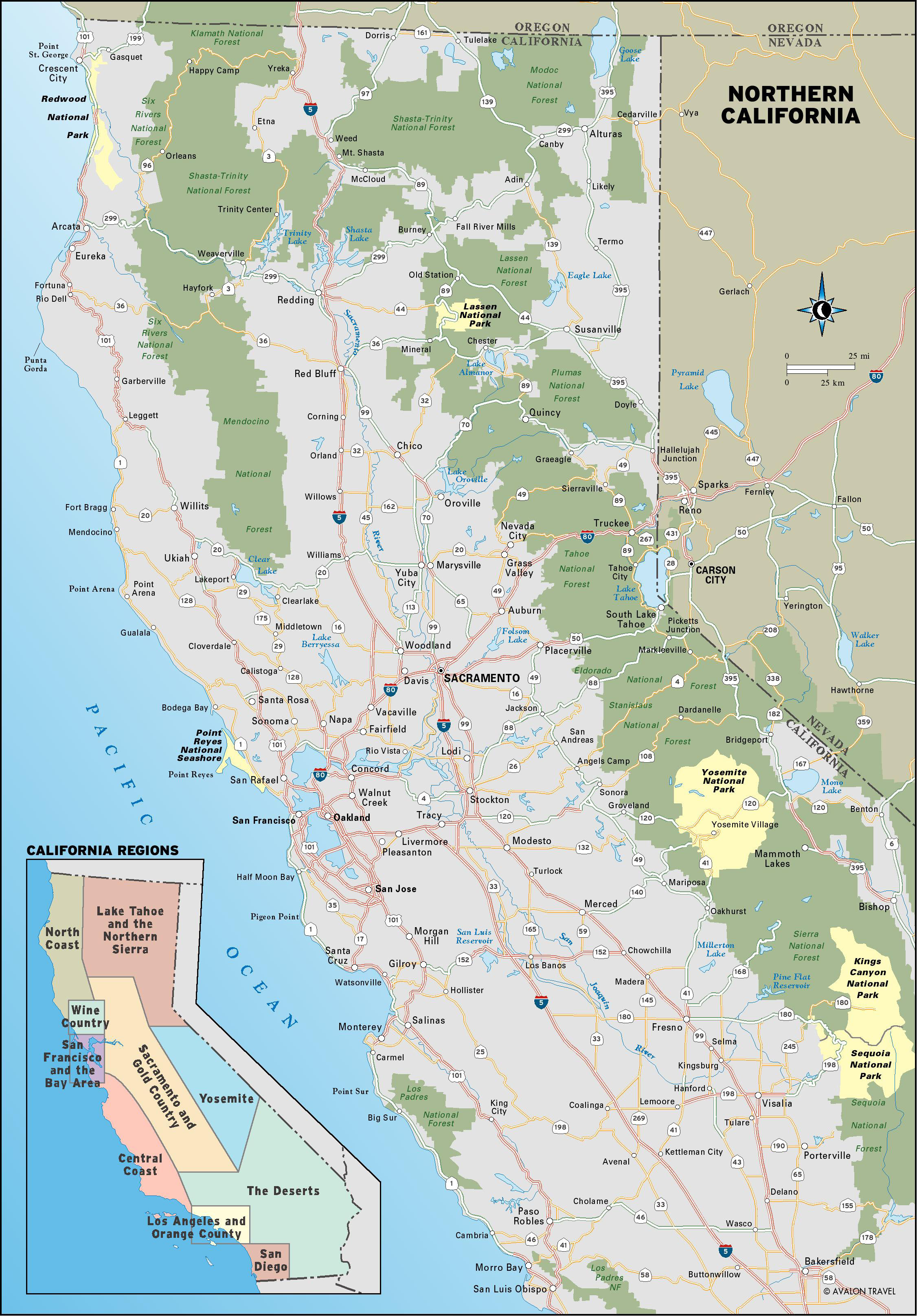 Map Of Oregon And Northern California Plan A Coast Road Trip With - Best California Road Map
