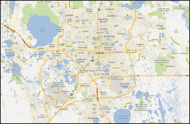 Map Of Orlando Florida Area