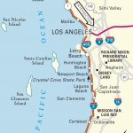 Map Of Pacific Coast Through Southern California. | Southern   California Coast Map Road Trip