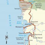 Map Of Pacific Coast Through Southern Washington Coast. | Bucket   Washington Oregon California Coast Map