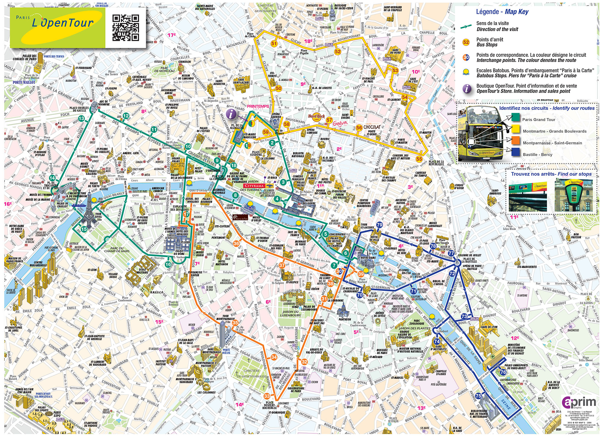 Map Of Paris Tourist Attractions, Sightseeing & Tourist Tour - Paris Tourist Map Printable