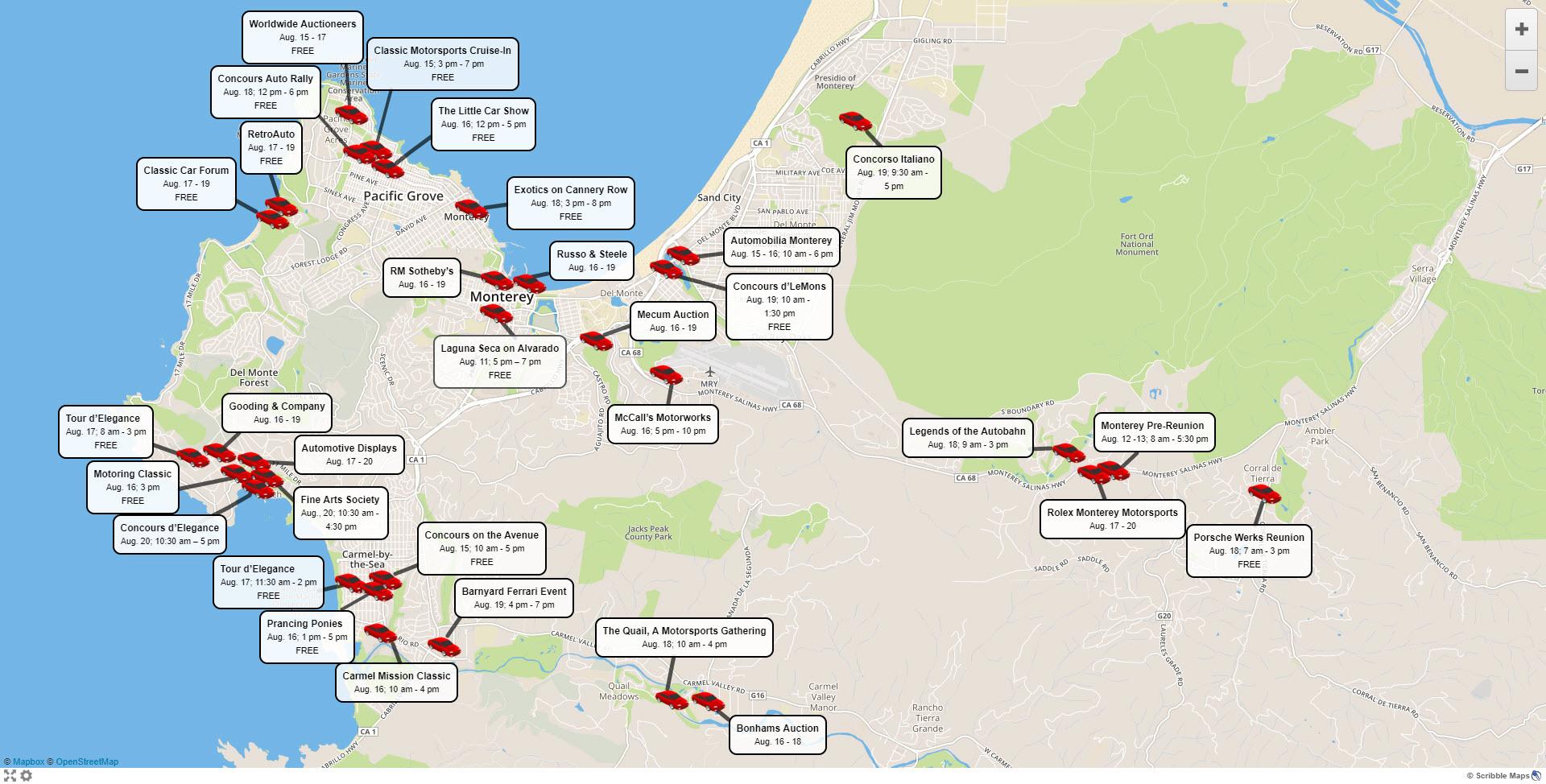Map Of Pebble Beach California - Klipy - Monterey Beach California Map