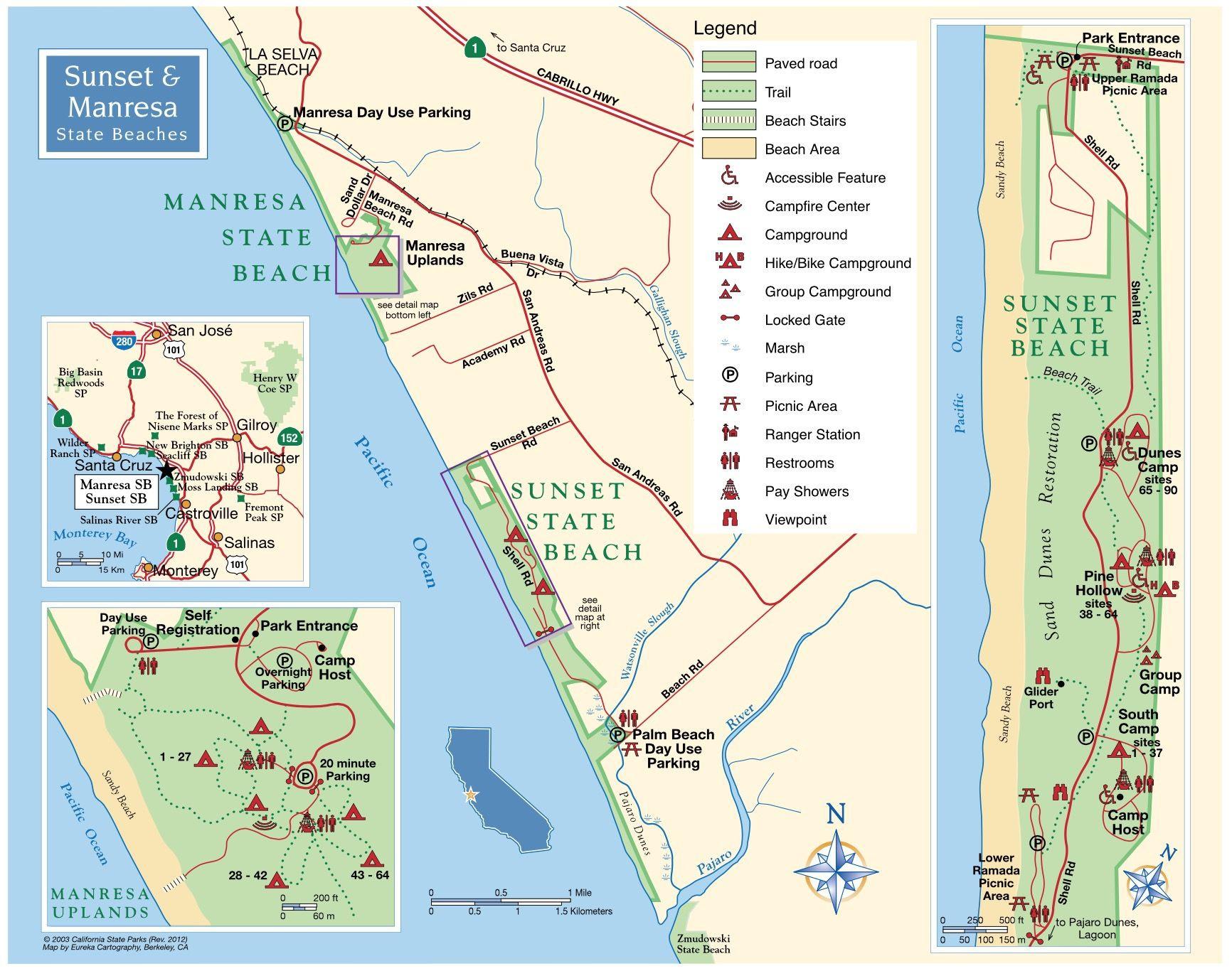 Map Of Pismo Beach California Free Printable Sunset State Beach - Pismo Beach California Map