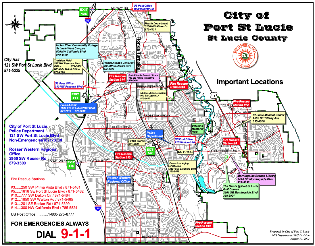 Map Of Port St Lucie Neighborhoods   Sarah Taylor - Map Of Florida With Port St Lucie