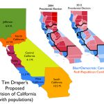 Map Of Proposal To Divide California Into Six States [1000X794   New California Map 3 States