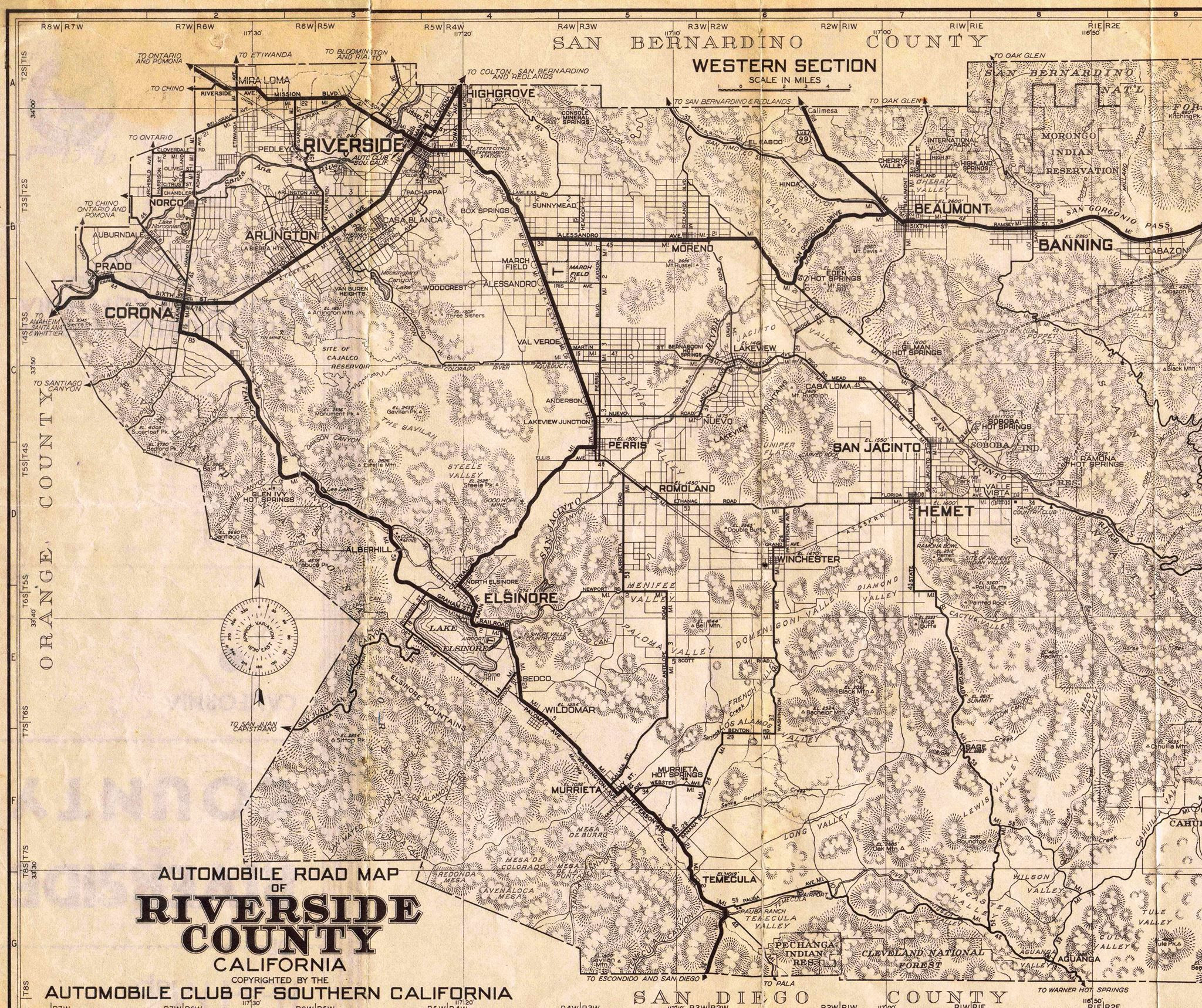 Map Of Riverside County California Free Printable Riverside County - Printable Map Of Riverside County