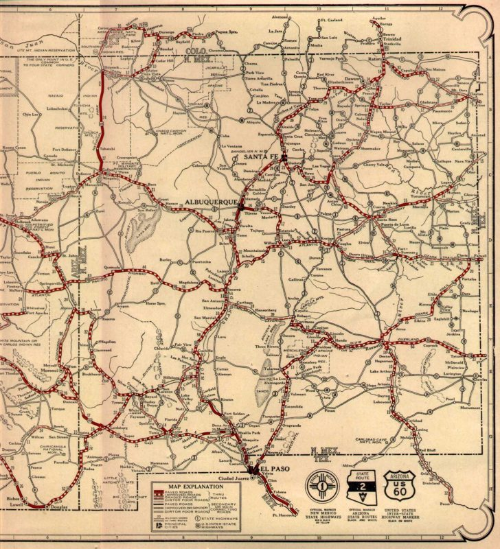Free Printable Route 66 Map