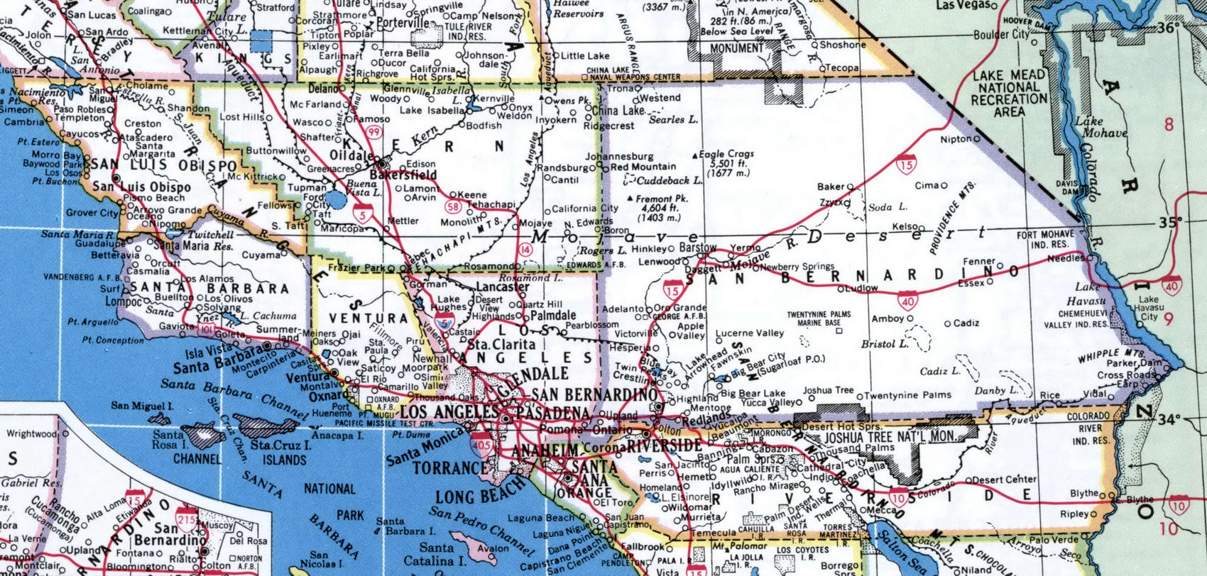 Map Of S California And Travel Information   Download Free Map Of S - Online Map Of California