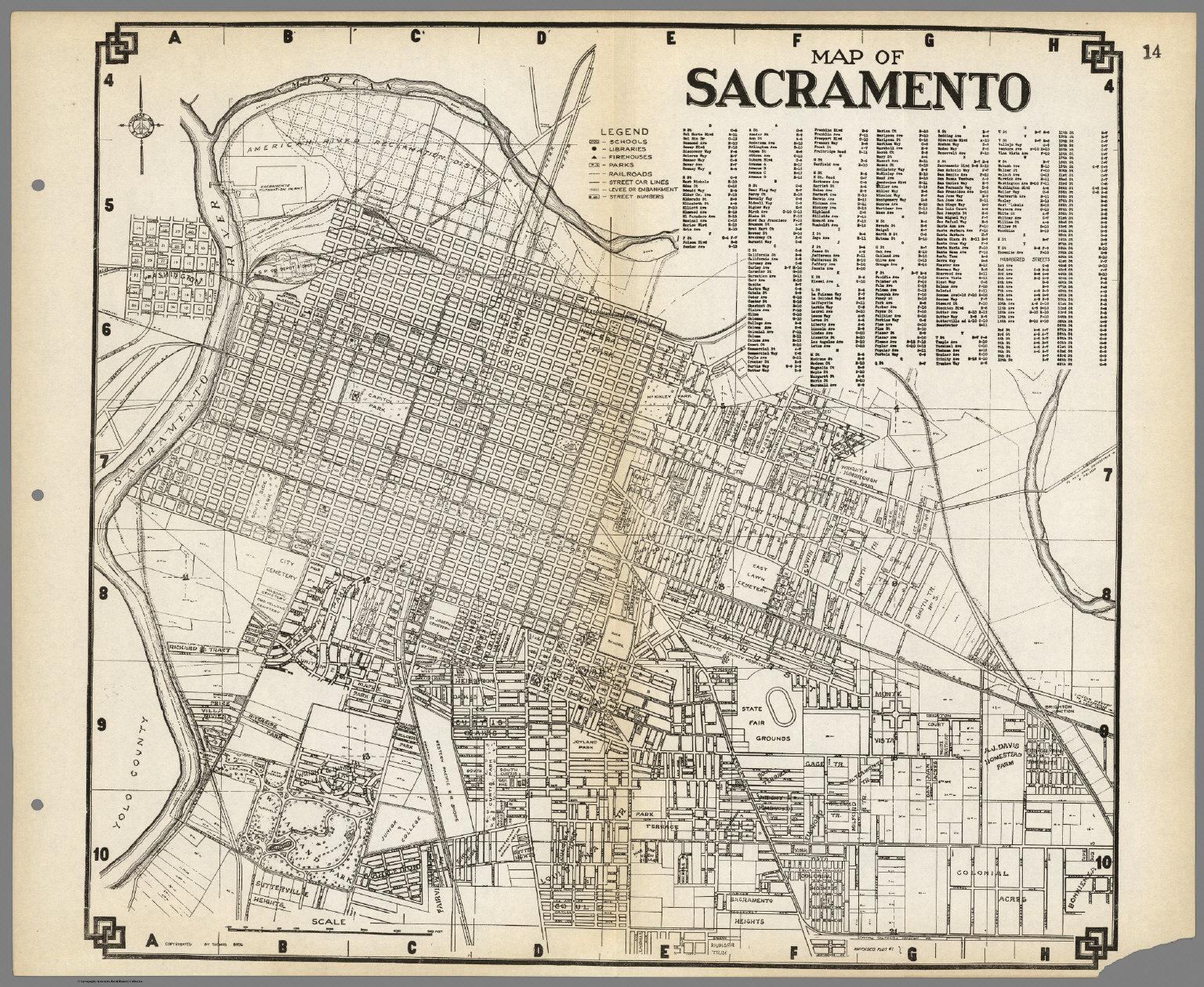 Map Of Sacramento, California. - David Rumsey Historical Map Collection - Map To Sacramento California