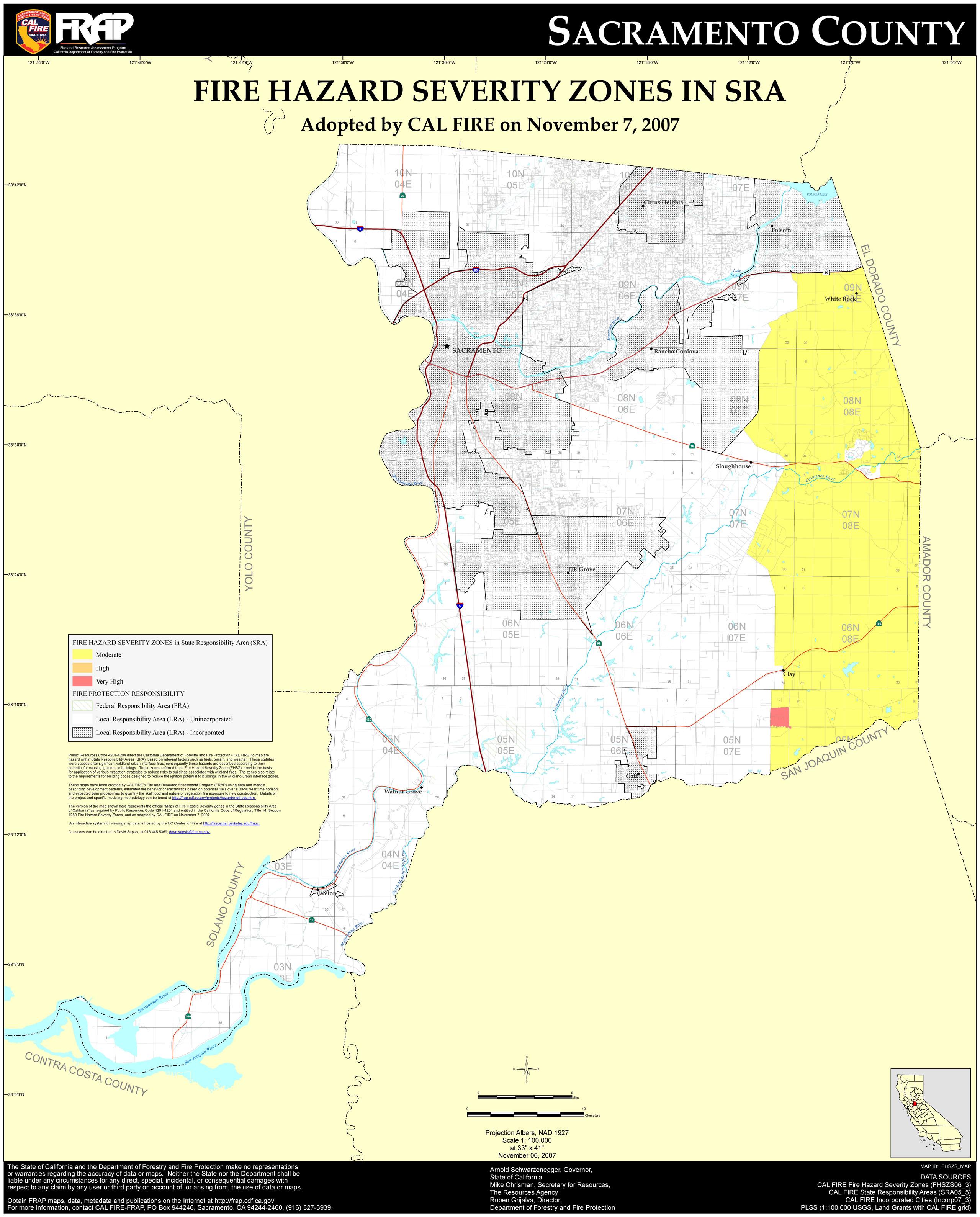Map Of Sacramento California - Klipy - Map Of Sacramento County California