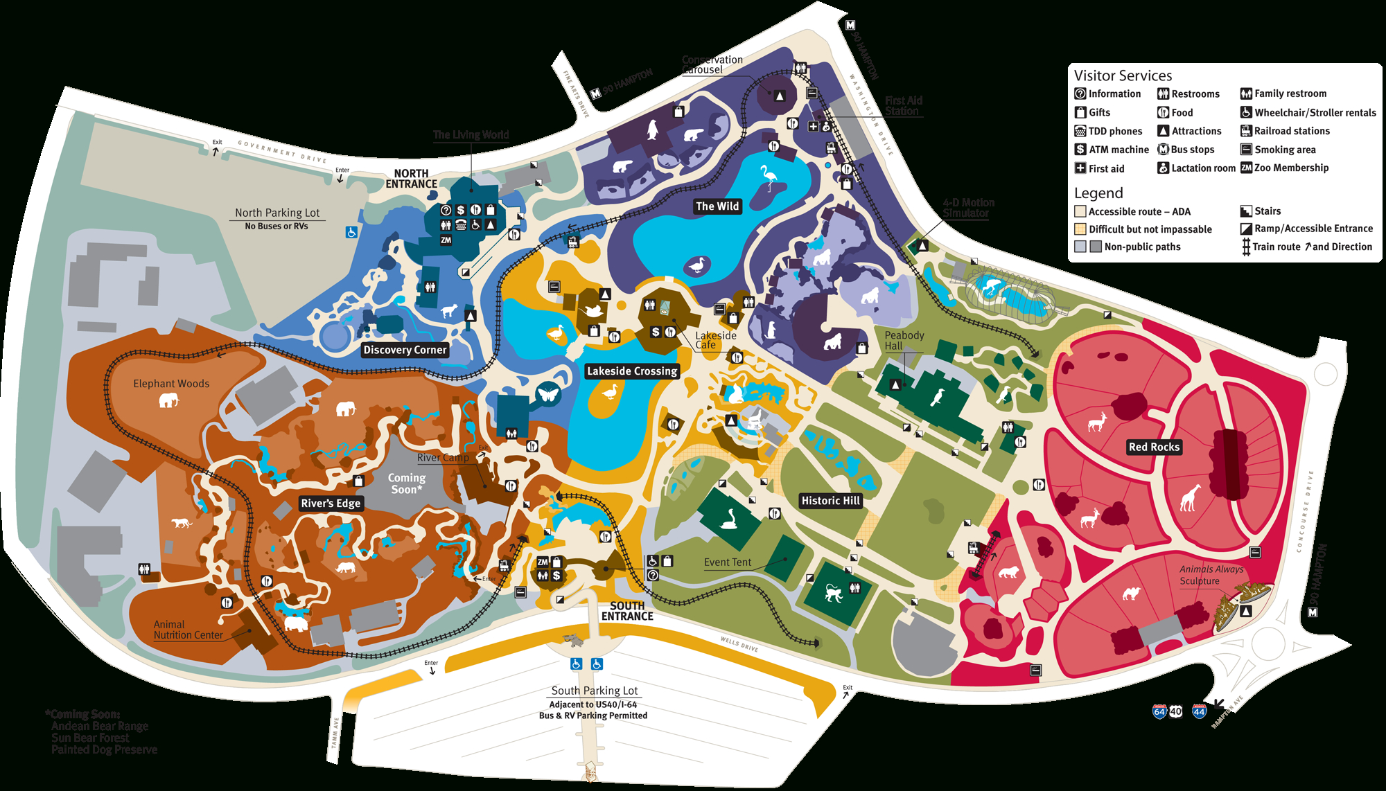 Map Of Saint Louis Zoo In Forest Park | Saint Louis In 2019 - Forest Park St Louis Map Printable