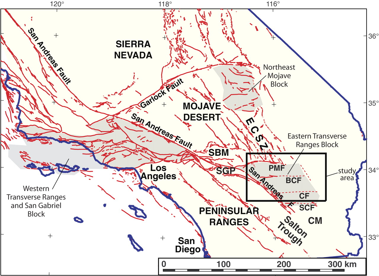 Map Of San Andreas Fault In Southern California - Klipy - Map Of The San Andreas Fault In Southern California