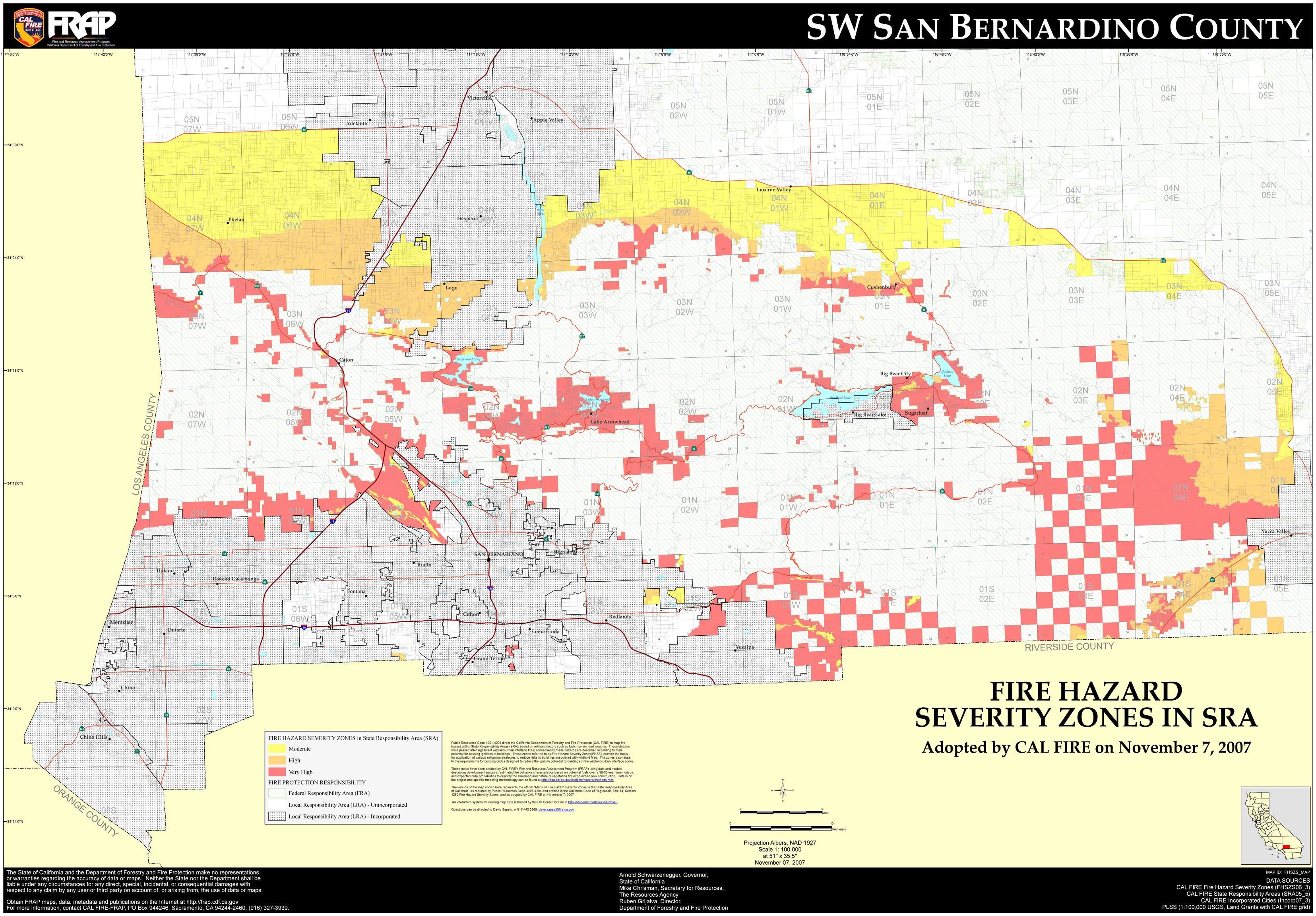 Map Of San Bernardino County Cities And Travel Information - Map Of Cities In San Bernardino County California