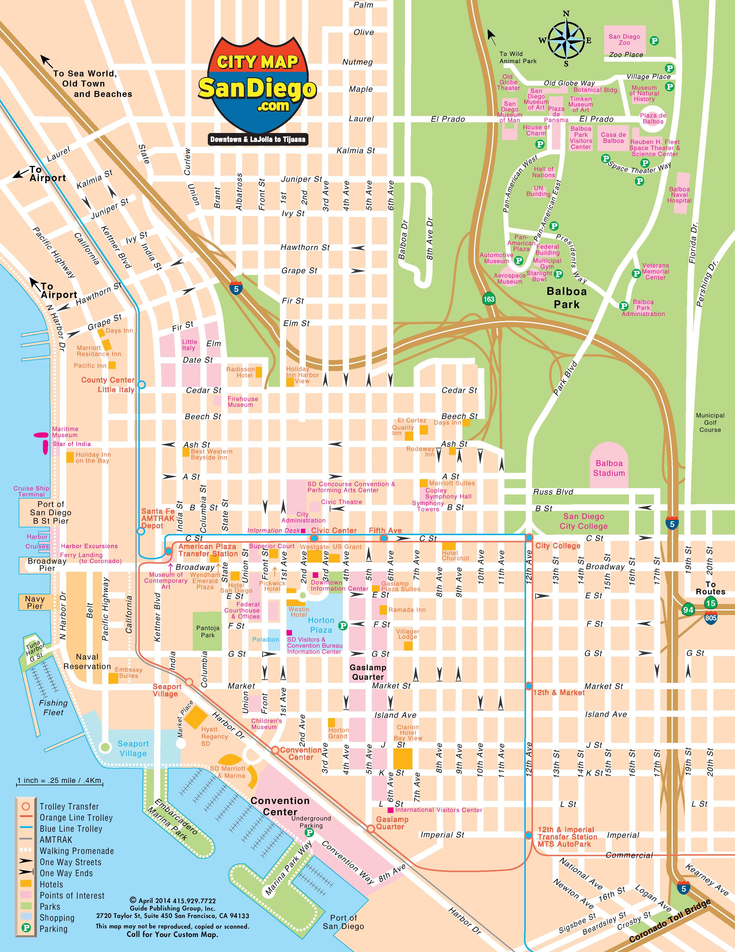 Map Of San Clemente California Printable San Diego Ca Map The City - City Map Of San Diego California