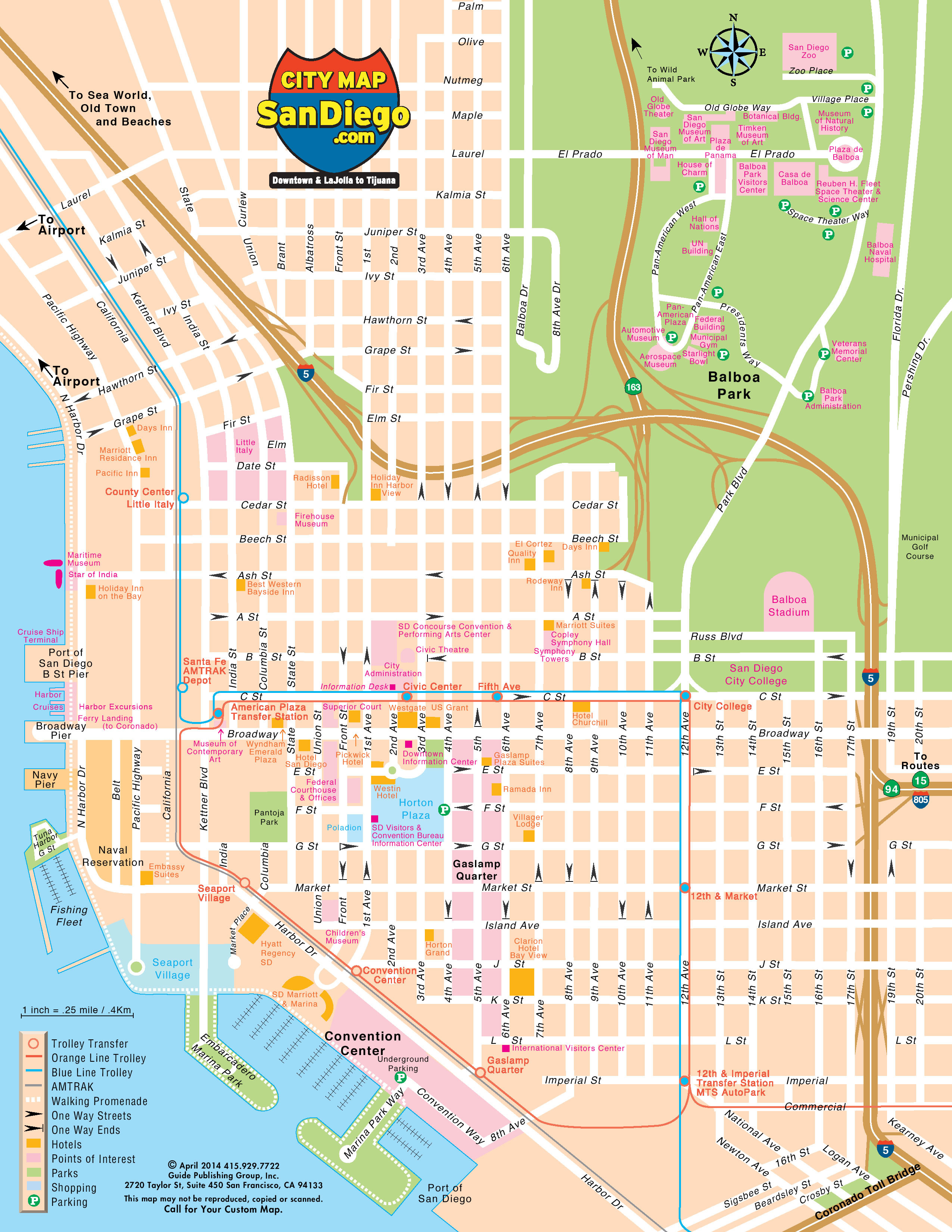Map Of San Clemente California Printable San Diego Ca Map The City - Detailed Map Of San Diego California