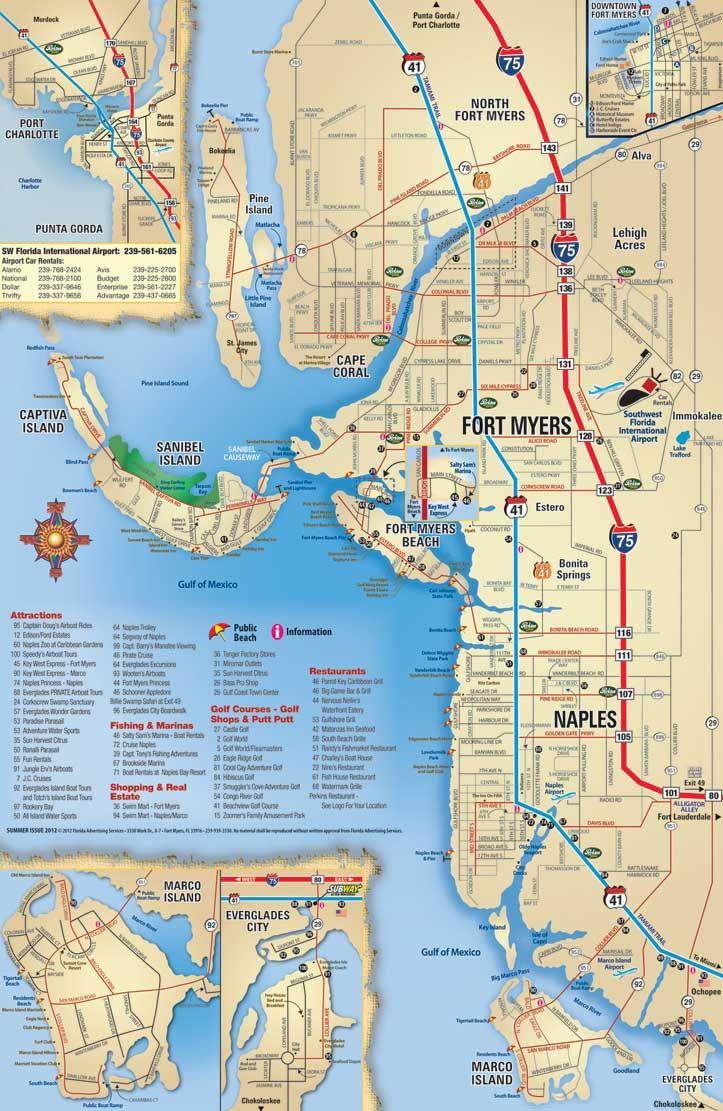 Best Florida Gulf Coast Beaches Map