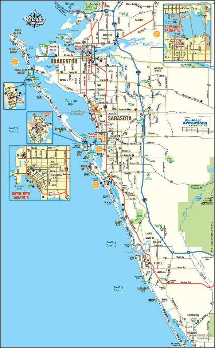 Map Of Sarasota Fl - Map : Resume Examples #jp8Jd2Mkvd - Map Of Sarasota Florida Area