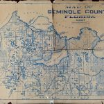 Map Of Seminole County, Florida, 1928 · Riches   Map Of Seminole County Florida