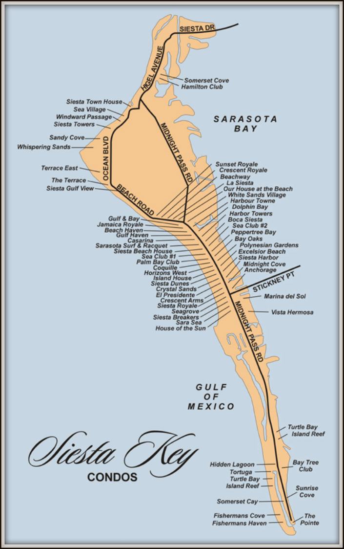 Map Of Siesta Key Florida Condos - Map Of Siesta Key Florida Condos
