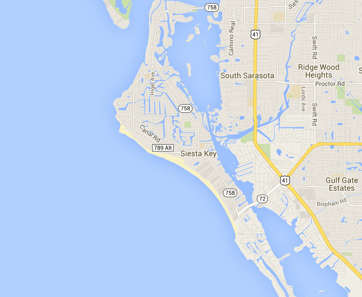 Map Of Siesta Key - Hotels And Attractions On A Siesta Key Map - Siesta Key Florida Map
