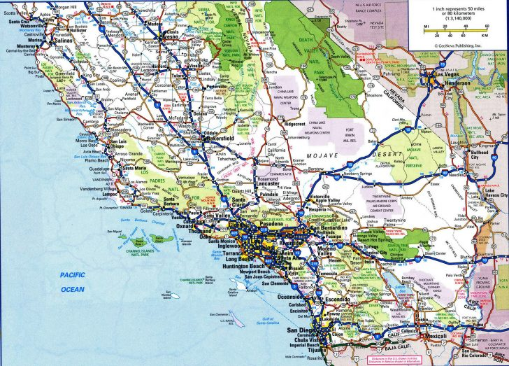 Detailed Map Of California Cities