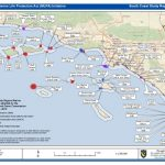 Map Of South California Coast   Klipy   Southern California Ocean Fishing Maps