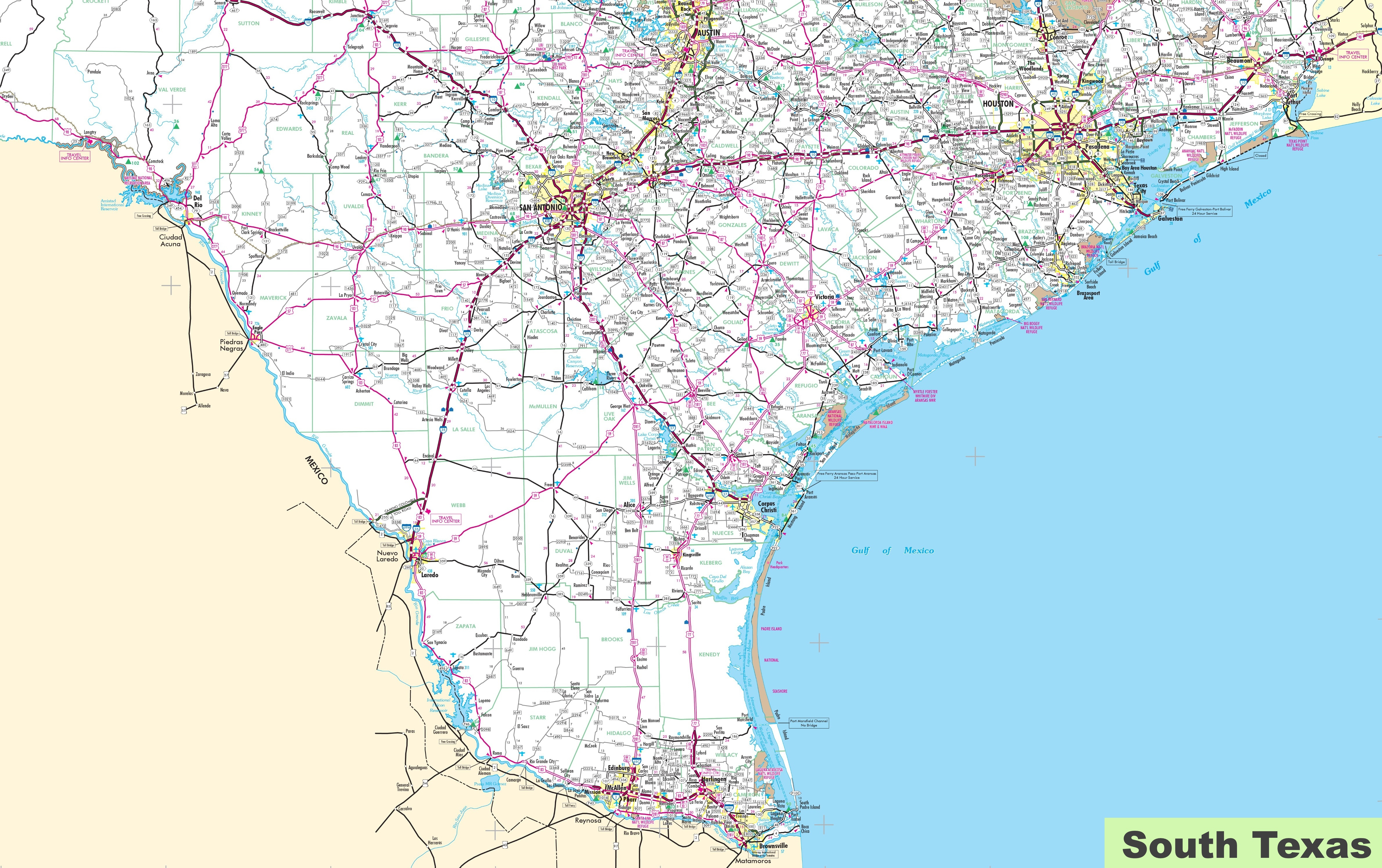 Map Of South Texas - Large Texas Map